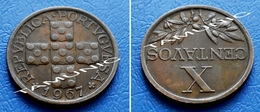 PORTUGAL 10 Centavos 1967 - Portugal