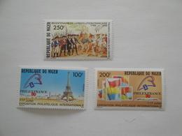 1989 Niger Yv 774/6  ** MNH French Revolution Française Cote 7.00 € Michel 1065/7  Scott 800/2 - Niger (1960-...)