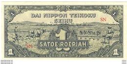 Netherlands East Indies 1 Roepiah 1944 AUNC/XF - [4] Colonies