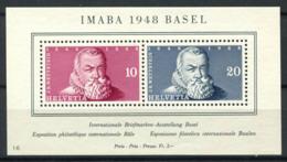Suisse 1948 Mi. Bl. 13 Bloc Feuillet 100% Neuf ** Exposition Philatélique, MASRI - Blocks & Kleinbögen