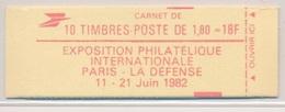 Carnet 2220 C4 Liberte De Delacroix PHILEXFRANCE 82 Tres Bien Ouvert - Usage Courant