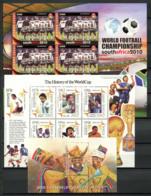 Football 2002,2010 Bloc Feuillet 100% Coupe Du Monde - World Cup