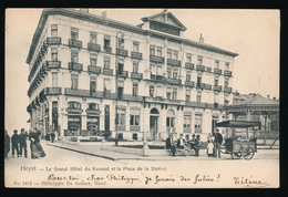 HEIST  ==  LE GRAND HOTEL DU KURSAAL ET LA PLACE DE LA STATION - Heist