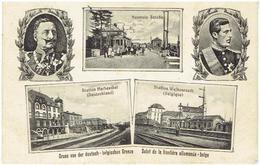Station WELKENRAEDT - Station HERBESTHAL - Neutrale Strasse - Tram - Gruss Von Der Deutsch-belgischen Grenze - Feldpost - Welkenraedt