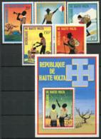 Burkina Faso 1973 Mi. 452-456 Bl.15 Neuf ** 100% Scout. - Haute-Volta (1958-1984)