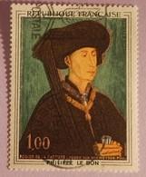 """FRANCE YT 1587 OBLITERE """" TABLEAU DE PHILIPPE LE BON"""" ANNEE 1969 - France"""