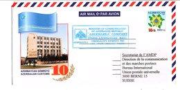 AZERBAIDJAN ENTIER LETTRE POUR LA SUISSE 2002 - Azerbaïdjan