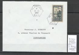 Algerie - Lettre - Cachet Hexagonal IN AMENAS SAS - Oasis  Marcophilie - Algérie (1924-1962)