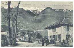 Cpa Aiguebelle - Passage à Niveau , Randens, Route De Montsapey - Aiguebelle