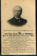 Souvenir Mortuaire NEVE De MEVERGNIES Léon (1848-1934) Né à LA HULPE Mort à GAND - Images Religieuses
