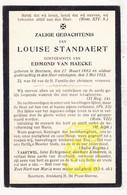 DP Louise Standaert ° Beernem 1862 † 1912 X Edmond Van Haecke - Images Religieuses