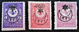 SURCHARGES 6 ETOILES ET 1 CROISSANT 1915 - TIMBRES POUR JOURNAUX - NEUFS * - YT 228/30 - 1858-1921 Osmanisches Reich