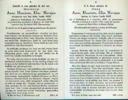 Souvenir Mortuaire NEVEJAN Anna (1878-1951) Echtg. TALPE, C. Geboren Te OUDENBURG Overleden Te KUURNE - Images Religieuses