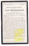 DP Leo Schoonaert ° Ruiselede 1839 † Beernem 1912 X Eugenia Wille - Images Religieuses