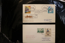 Argentina Antarctic 2 Covers Ships Christmas Soldier Newberry Cachet Cancel Almirante Backstamp 1994  A04s - Stamps
