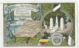 Kelmis - Gruss Vom Vierländenblick Aus Deutschland, Belgien, Holland Und Neutral-Moresnet - Kelmis