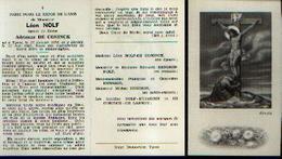 Lot De 2 Souvenirs Mortuaires Différents NOLF Léon (1878-1952) Né Et Mort à YPRES - Images Religieuses