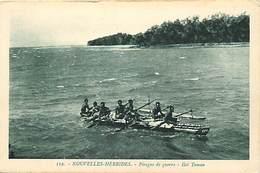 Pays Div- Ref R248- Nouvelles Hebrides - Pirogue De Guerre - Ilot Toman - Carte Bon Etat - - Vanuatu