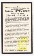 DP Eugenie Steyaert ° Assebroek 1858 † Brugge 1929 X Ed. Loosvelt - Images Religieuses