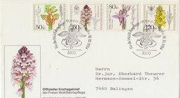 GERMANY 1984 FDC With Orchids.BARGAIN.!! - Brieven En Documenten