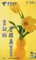 TARJETA TELEFONICA DE CHINA. FLORES - FLOWERS. HNT-SY-72(8-5) (385) - Flores