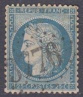 FRANCE - 1871 - Ceres Yvert 60 Usato, Con Timbro A Grandi Cifre, Come Da Immagine. - 1871-1875 Ceres