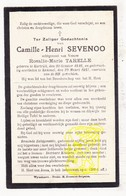 DP Camille H. Sevenoo ° Kortrijk 1846 † Kemmel Heuvelland 1927 X Rosalie M. Tarelle - Images Religieuses