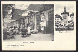 Bern - Bahnhof Buffet - Zeitglockenturm - Gare - Belebt - Animée - 1910 - BE Berne