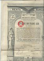 Action  Et Titres Renta Romana  No  003890 - Actions & Titres