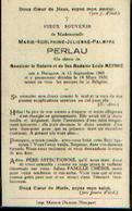 Souvenir Mortuaire PERLAU Marie (1908-1938) Née Et Morte à NIEUPORT - Images Religieuses