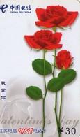 TARJETA TELEFONICA DE CHINA. FLORES - FLOWERS. JSXY-B-NJ-19(3-3) (386) - Flores