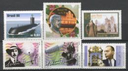Brésil 1998 Mi. 2877-2881, 2888 Neuf ** 100% Sous-marin, Personnalité - Brasilien