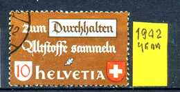 SVIZZERA - HELVETIA - Year 1942 - Viaggiato - Traveled - Voyagè - Gereist. - Usati