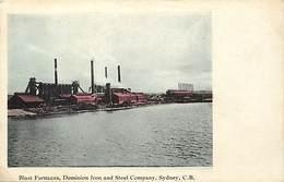 Pays Div- Ref R245- Australie - Australia - Blast Furnaces , Dominion Iron And Steel Company - Sydney - - Non Classés