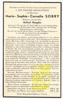 DP Marie Sophie C. Sobry ° Veurne 1862 † 1937 X Achiel Huyghe - Images Religieuses