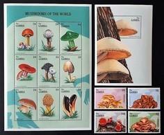 #Gambia 1997** Mi.2618-31. Mushrooms, MNH [22;34] - Pilze