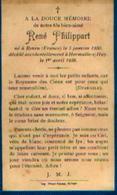 Souvenir Mortuaire PHILIPPART René (1930-1936) Né à REVIN (France) Mort à HERMALLE-SOUS-HUY - Images Religieuses