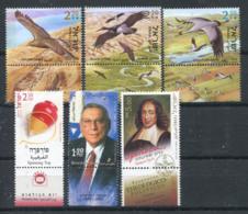 Israël 2002 Mi. 1697-1701 Neuf ** 100% Oiseaux, Zé Evy, Spinoza - Israel
