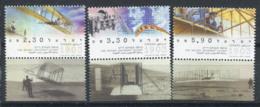 Israël 2003 Mi. 1716-1718 Neuf ** 100% Wright, Avion - Israel