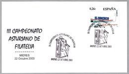 III Campeonata Asturiano De Filatelia - MALETA - SUITCASE. Mieres, Asturias, 2003 - Vacaciones & Turismo