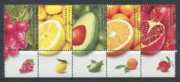 Israël 2009 Mi. 2033-2037 Neuf ** 100% Fruits - Israel