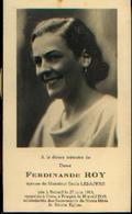 Souvenir Mortuaire ROY Ferdinande (1914-1945) Ep. LESAFFRE, E. Née à BELOEIL, Morte à BRUGES - Images Religieuses