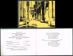 OPERA BALLET - Lot Of 9 Booklets With 18 Original Autograph Hand Signed Dedicacee 1983 Teatro Colon (1 Booklet Unsigned) - Autographs