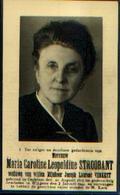 Souvenir Mortuaire STROOBANT Maria (1873-1944) Wwe VERKEST, J. Geboren Te OEDELEM Overleden Te WINGENE - Images Religieuses