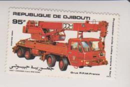 Timbre - DJIBOUTI - Pompier - GRUE P.P.M  FRANCE - 95F - Djibouti (1977-...)