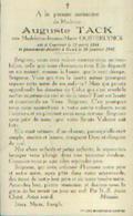 Souvenir Mortuaire TACK Auguste (1884-1947) Né à COURTRAI Mort à GAND - Images Religieuses