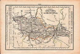 LA MOSELLE - Routes De POSTE - Relais De POSTES - Nombre De POSTES D'un Relais à L'autre - Historical Documents