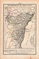 LE BAS-RHIN- Routes De POSTE - Relais De POSTES - Nombre De POSTES D'un Relais à L'autre - Documents Historiques