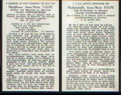 Souvenir Mortuaire TALPE Anne-Marie (1936-1951) Geboren Te GENT Overleden Te KORTRIJK - Images Religieuses
