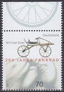 2017 ALLEMAGNE Germany Karl Drais 1817 ** MNH Vélo Cycliste Cyclisme Bicycle Cycling Fahrrad Radfahrer Bicicleta  [ed44] - Ciclismo